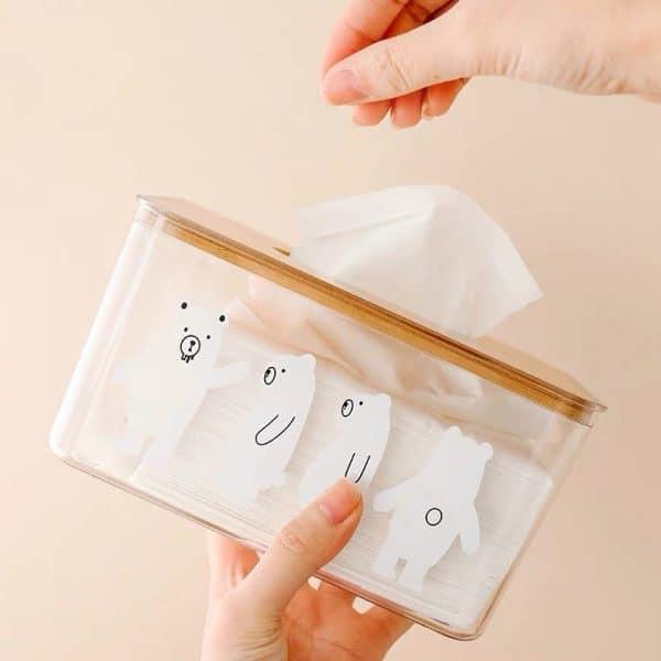 Hộp giấy ăn hình gấu