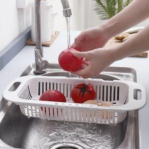 Rổ gác bồn rửa bát thu gọn