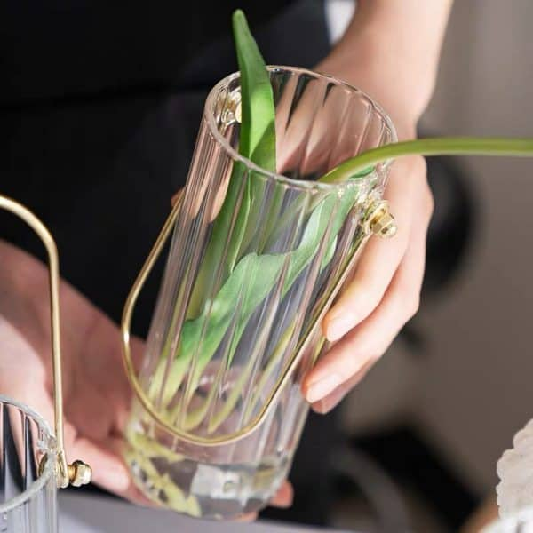 Bình cắm hoa, lọ hoa thủy tinh có quai treo