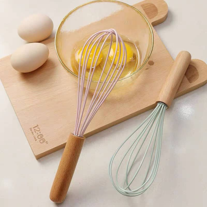 Đánh trứng silicon tay gỗ