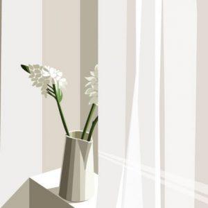 Hoa và lọ cắm hoa