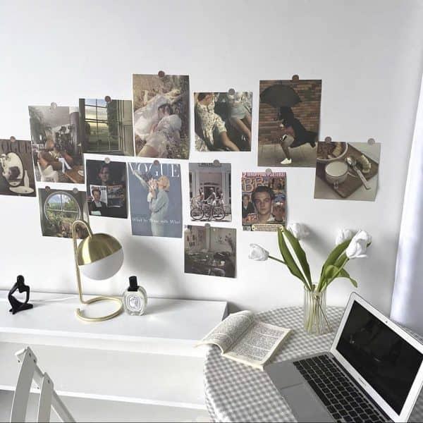 Set postcard trang trí tường phong cách retro cổ điển