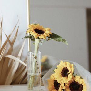 Bình cắm hoa, lọ hoa thủy tinh có quai treo 5