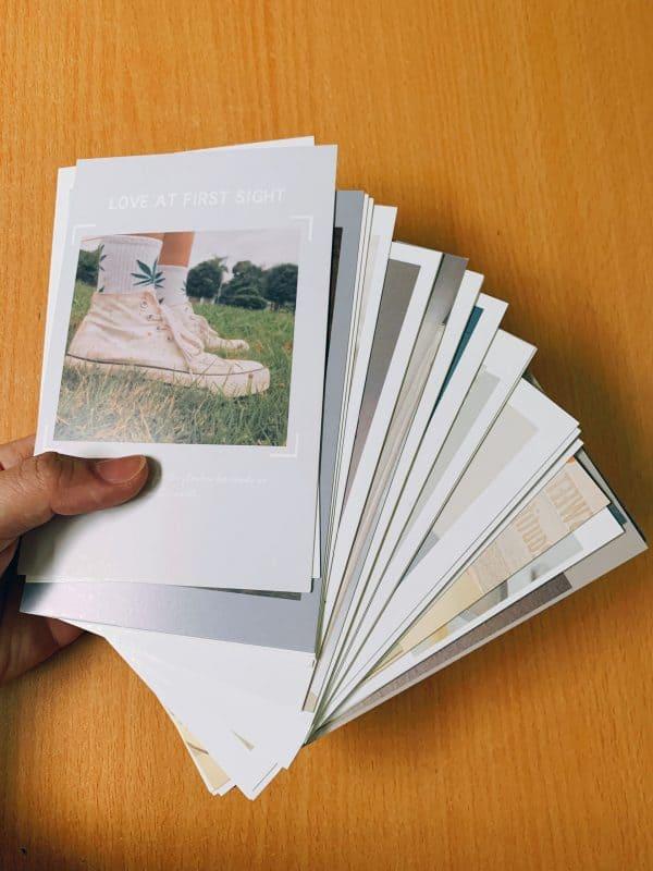 Set 30 postcard trang trí tường