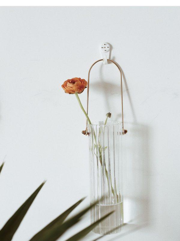 Bình cắm hoa, lọ hoa thủy tinh có quai treo 3
