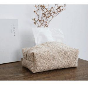 Hộp đựng giấy ăn, hộp khăn giấy bằng vải đay