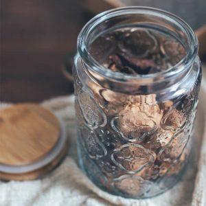 Hũ thủy tinh, lọ thủy tinh nắp gỗ phong cách retro