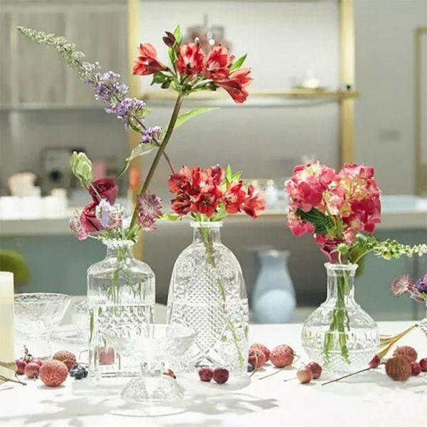Lọ hoa thủy tinh phong cách Bắc Âu, vintage - cutam.homedecor