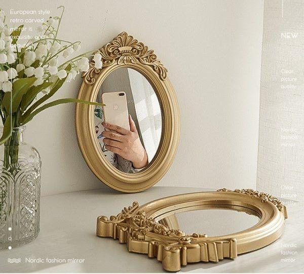 Gương trang trí, gương trang điểm làm phụ kiện chụp ảnh phong cách retro, Châu Âu - cutam.homedecor 3