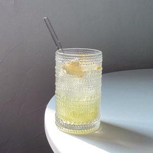 Cốc thủy tinh, ly thủy tinh phong cách retro chịu nhiệt cao cấp - cutam.homedecor