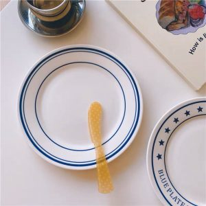Đĩa sứ tráng men, đĩa gốm sứ phong cách vintage - Mẫu 1