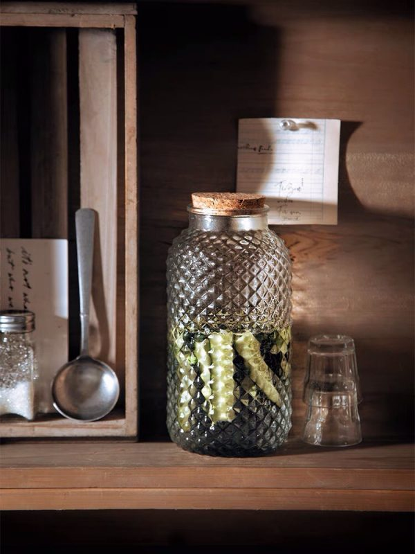 Hũ thủy tinh, lọ thủy tinh nắp gỗ cỡ lớn đa năng phong cách vintage - cutam.homedecor