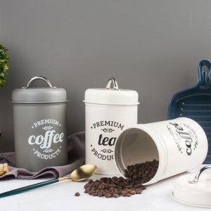 Bộ 3 hũ đựng đồ khô, lọ đựng đường, cà phê và trà cho nhà bếp phong cách Bắc u - cutam.homedecor 7