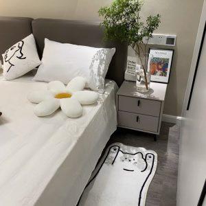 Thảm phòng ngủ, phòng khách cỡ lớn, thảm trang trí cao cấp hình dáng con mèo 4 - cutamdecor.com