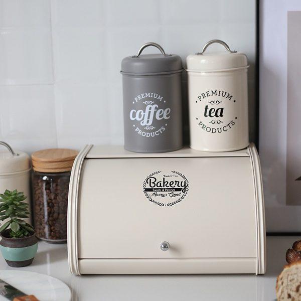 Bộ 3 hũ đựng đồ khô, lọ đựng đường, cà phê và trà cho nhà bếp phong cách Bắc u - cutam.homedecor