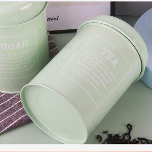 Bộ 3 hũ đựng đồ khô, lọ đựng đường, cà phê và trà cho nhà bếp phong cách Bắc u - cutam.homedecor 12