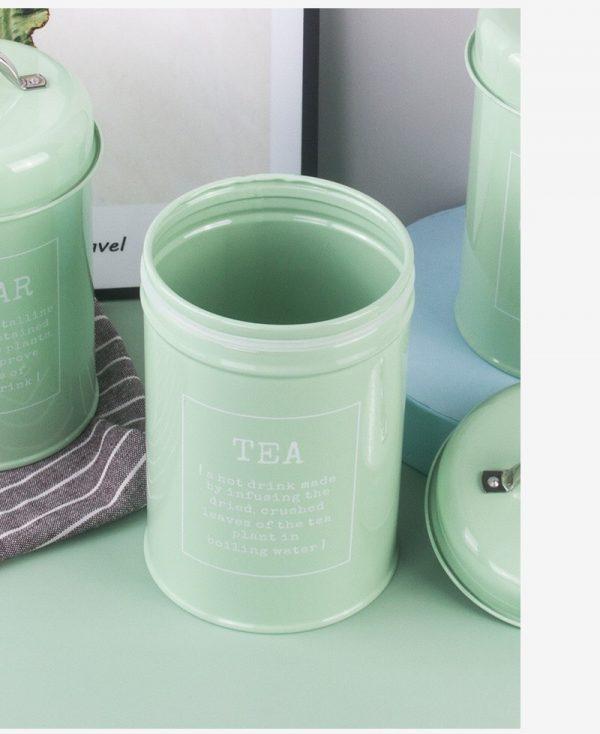 Bộ 3 hũ đựng đồ khô, lọ đựng đường, cà phê và trà cho nhà bếp phong cách Bắc u - cutam.homedecor 11