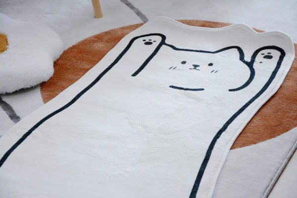 Thảm phòng ngủ, phòng khách cỡ lớn, thảm trang trí cao cấp hình dáng con mèo 7 - cutamdecor.com