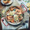 Đĩa chảo nhôm quai đỏ, chảo ăn hải sản 7