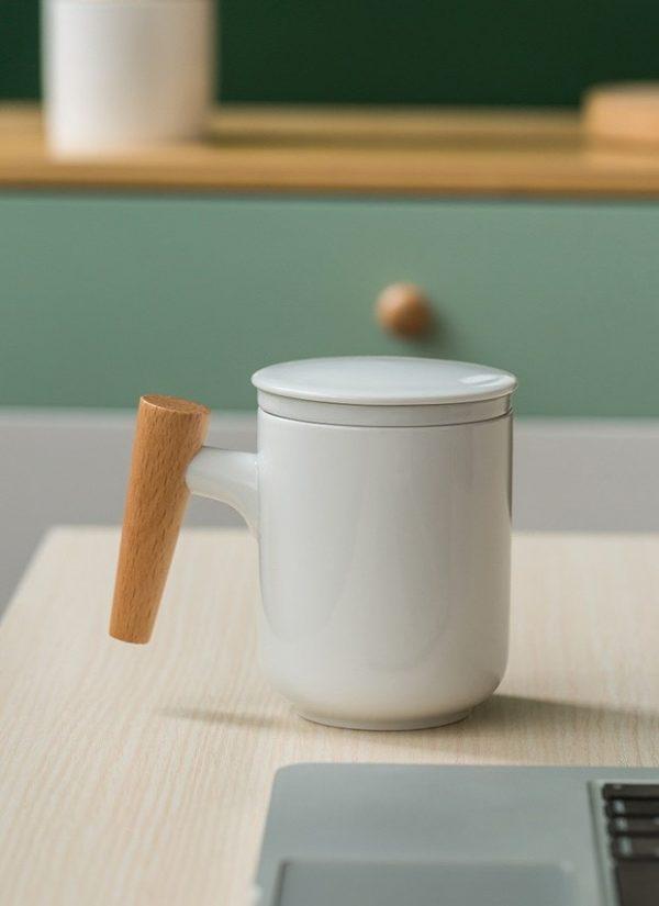 Cốc uống trà, cốc pha trà có lõi lọc bằng sứ tiện dụng
