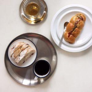 Đĩa đựng đồ ăn, đĩa đựng hoa quả INOX phong cách Hàn Quốc - cutam.homedecor