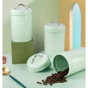 Bộ 3 hũ đựng đồ khô, lọ đựng đường, cà phê và trà cho nhà bếp phong cách Bắc u - cutam.homedecor 10