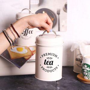Bộ 3 hũ đựng đồ khô, lọ đựng đường, cà phê và trà cho nhà bếp phong cách Bắc u - cutam.homedecor 5