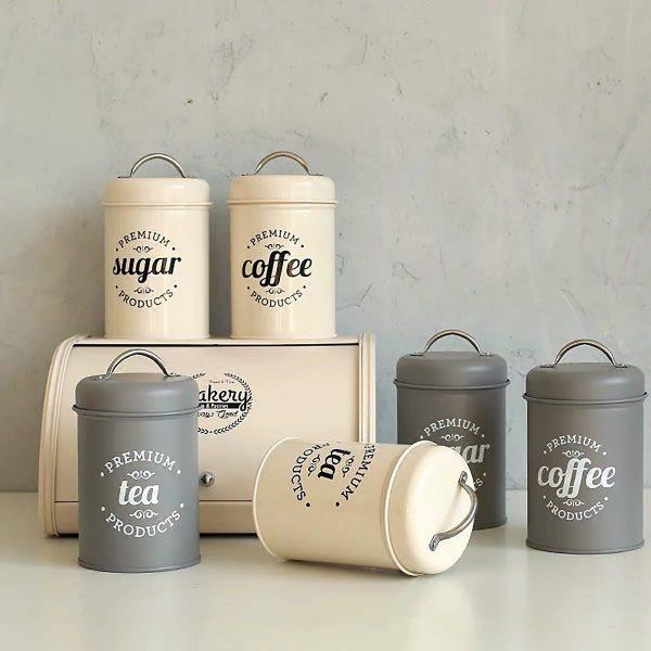 Bộ 3 hũ đựng đồ khô, lọ đựng đường, cà phê và trà cho nhà bếp phong cách Bắc u - cutam.homedecor 2