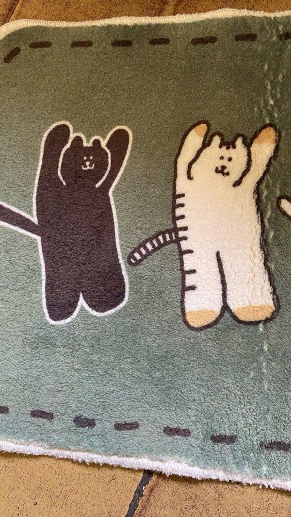 hảm lau chân, thảm phòng khách và nhà tắm họa tiết bốn chú mèo - cutam.homedecor
