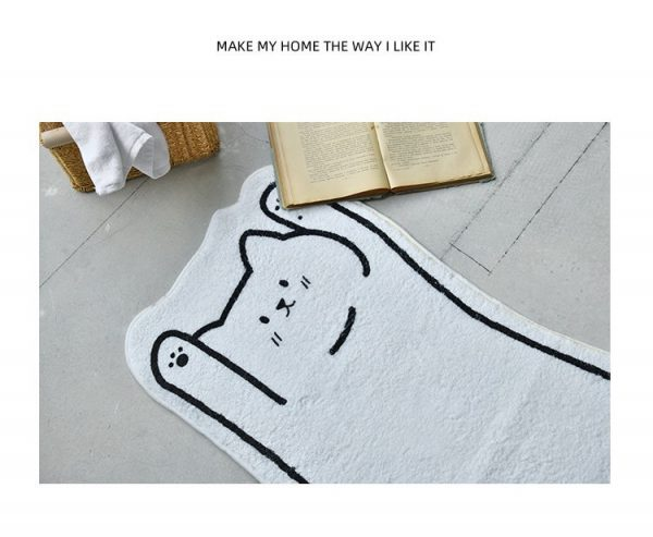 Thảm phòng ngủ, phòng khách cỡ lớn, thảm trang trí cao cấp hình dáng con mèo - cutamdecor.com